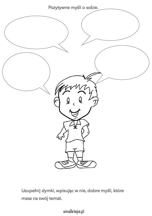 Pozytywne myśli o sobie – materiał do pracy z dzieckiem.